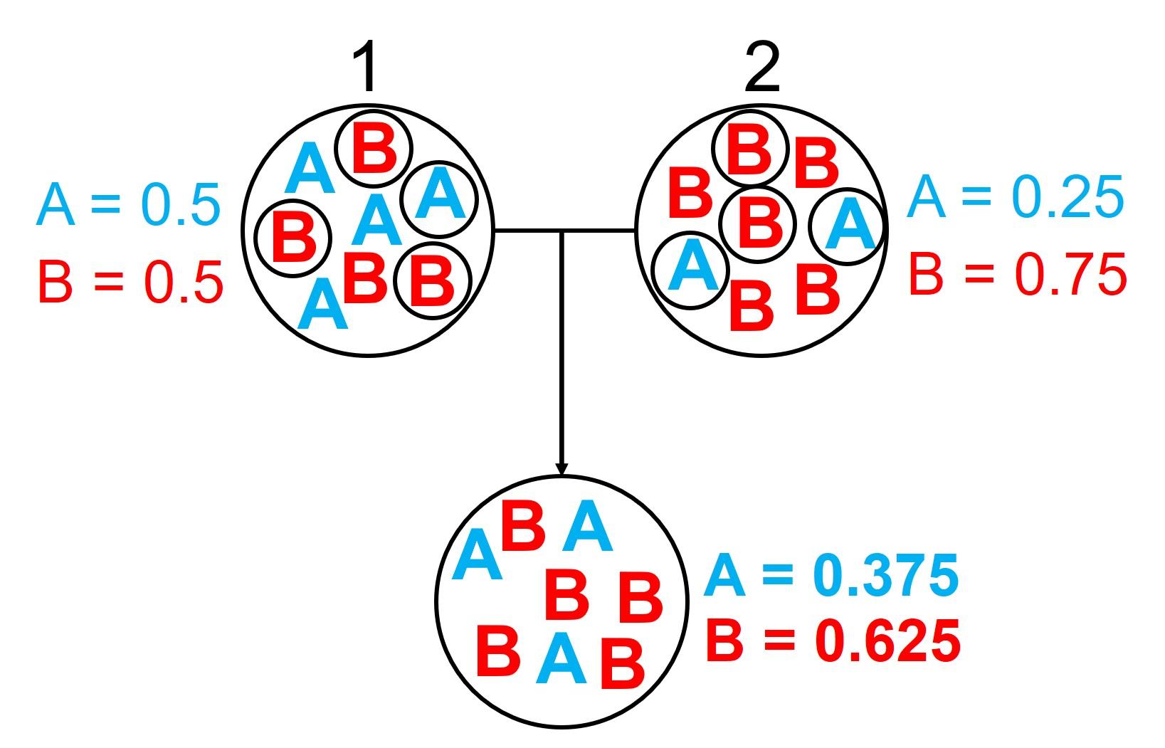 Gene flow homogeneity figure