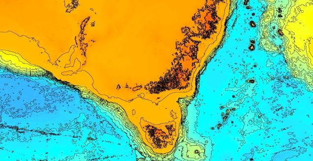 Bass Strait bathymetric contours.jpg